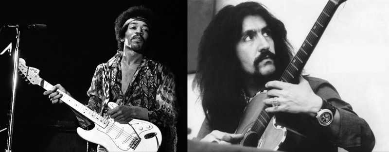 Murat Ertel's musical idols include Jimi Hendrix (left) & Barış Manço
